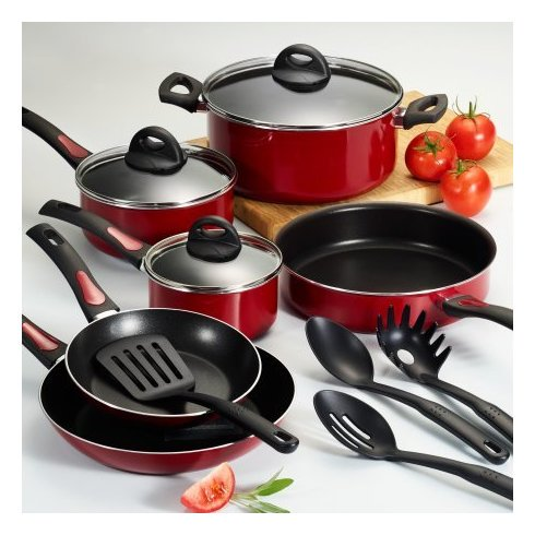 Tramontina 13Pc Everyday Cookware Red Se Non Stick