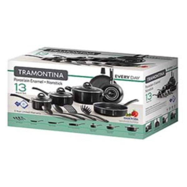 Tramontina 13Pc Everyday Cookware Black Non Stick