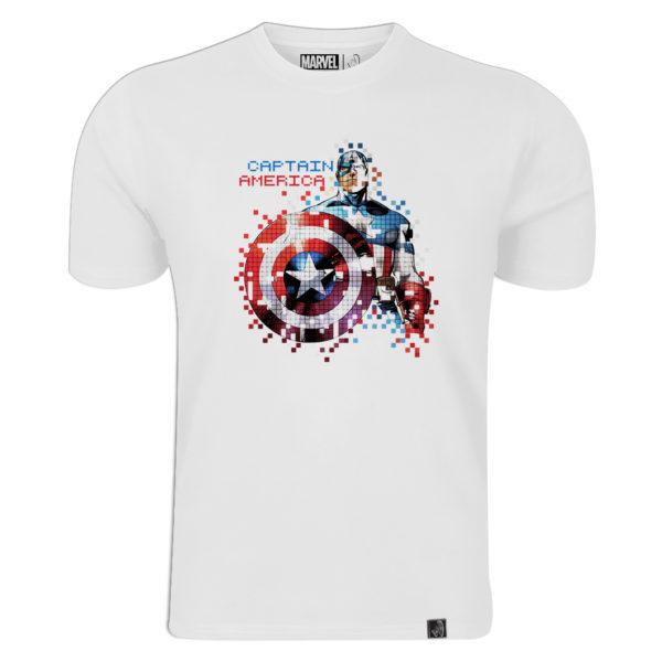 Marvel Captain America Boys T-Shirt New Black Officially Licensed Pixel Look