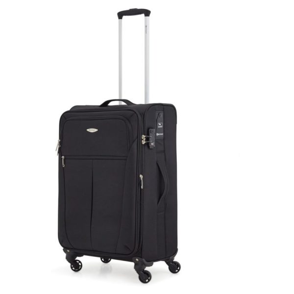 Eminent S014020BLK Nylon Spinner Luggage Trolley Case Black 20""