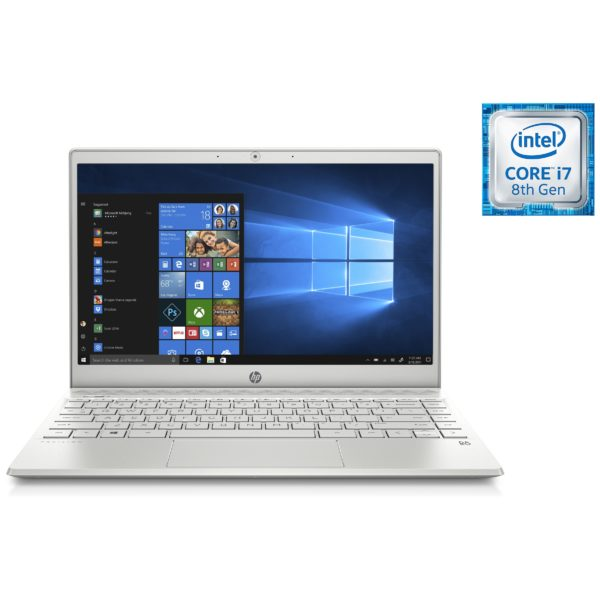 HP Pavilion 13-AN0007NE Laptop - Core i7 1.8GHz 8GB 256GB Shared Win10 13.3inch FHD Silver