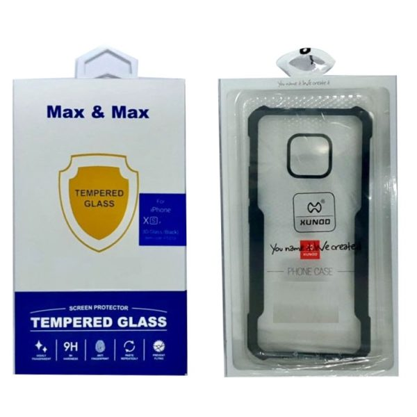 Max & Max Back Case with Screen Protector For iPhone Xs