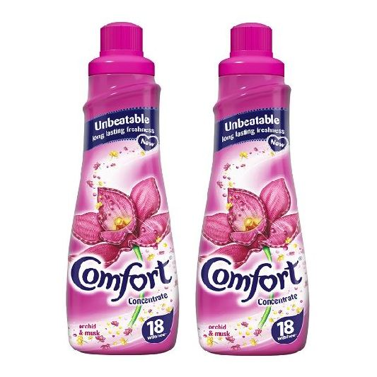 Comfort Liquid Fabric Conditioner Orchid & Musk Scent 750ml Pack of 2