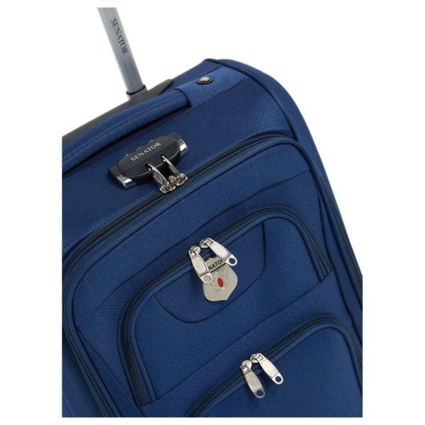 """Senator KH10828NVY EVA Luggage Trolley Case Navy 28"""""""