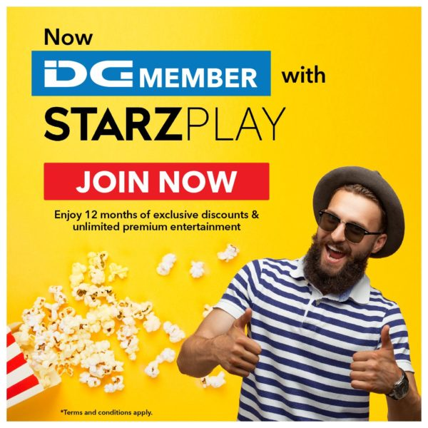 DG Member With STARZ PLAY Subscription
