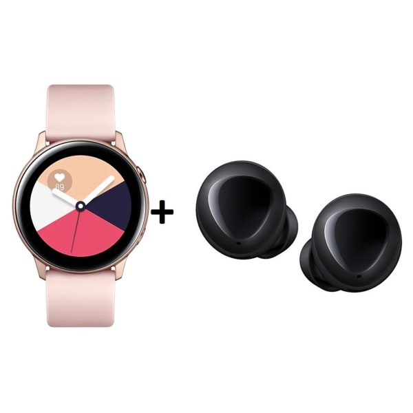 Samsung SM-R500 Galaxy Active Watch 40mm Rose Gold + SM-R170 Galaxy Buds  Black