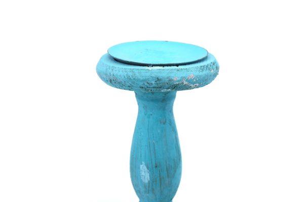 Pan Emirates Iekika Wooden Candle Holder Green