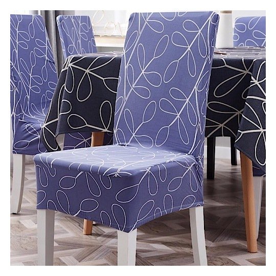Buy Leaves Design Table Cloth With Dining Chair Cover