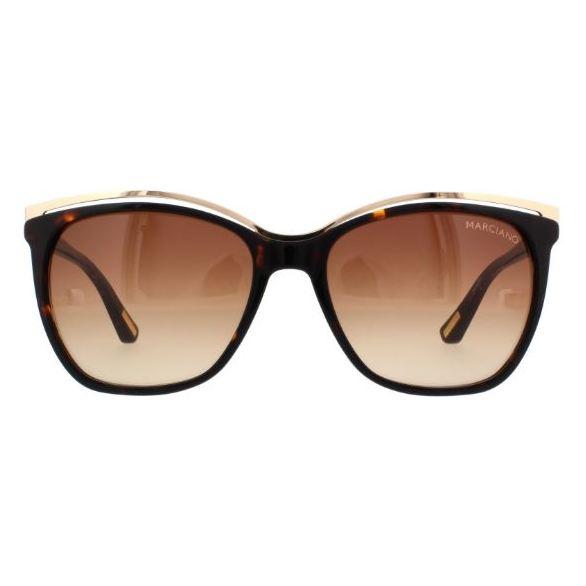 Marciano GM074552F58 Ladies Sunglass Dark Havana/Grad Brown