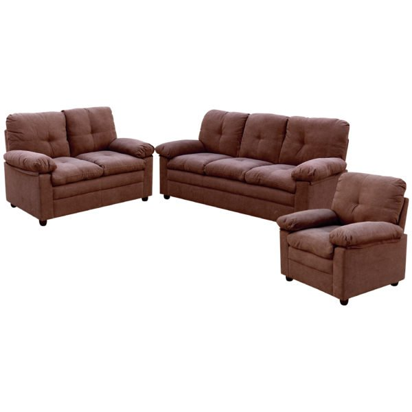 Comfy 3+2+1 Sofa Set - Dark Brown