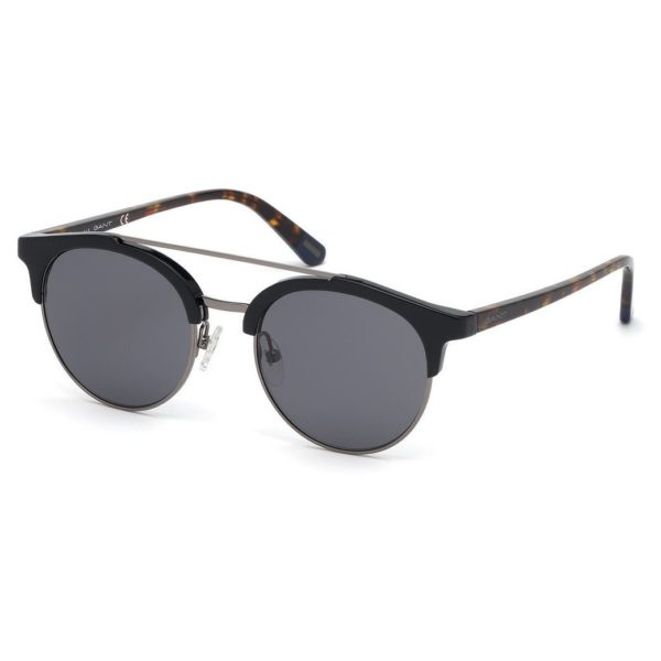 Gant GA-7112-01A-52 Men's Sunglass Shiny Black/Smoke Plastic
