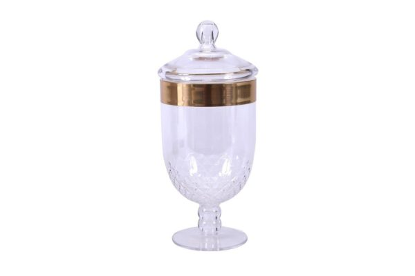 Pan Emirates Orchid Acrylic Candy Jar 1.5L Gold