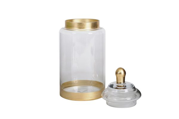 Pan Emirates Orchid Candy Jar with Lid Gold