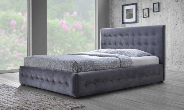 brand new 68a72 de723 Buy Modern and Contemporary Navy Blue Velvet Fabric Button ...
