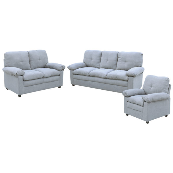 Comfy 3+2+1 Sofa Set - Light Grey