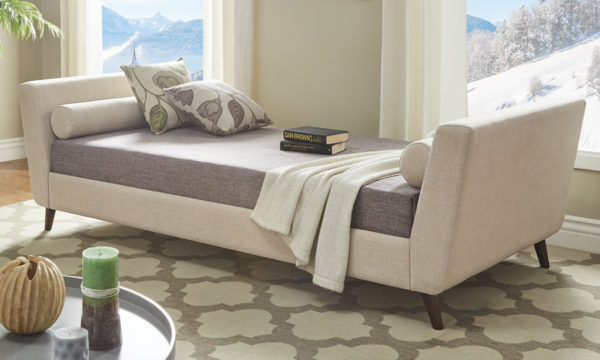 Modern Sofabed Sofabed Frame With Mattress Beige