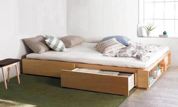 Buy Solid Mdf Wood Storage Bed Super King With Mattress