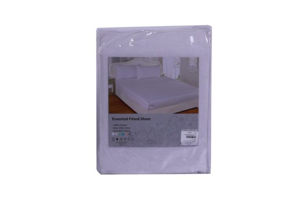 Essential Fitted Sheet 144TC 200x210x30cm White