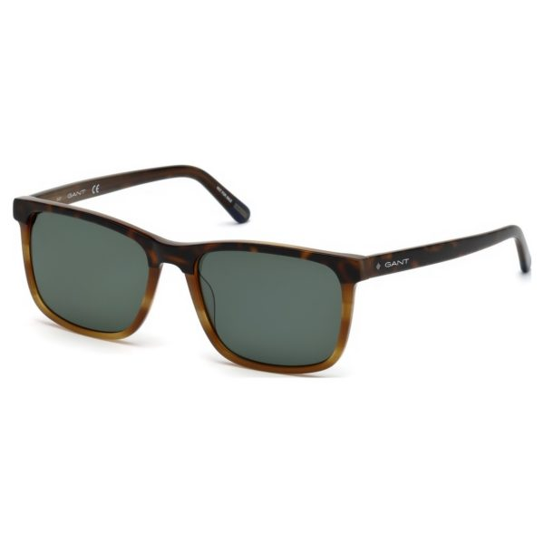 Gant GA-7105-53R-56 Men's Sunglass Blonde Havana/Green Plastic