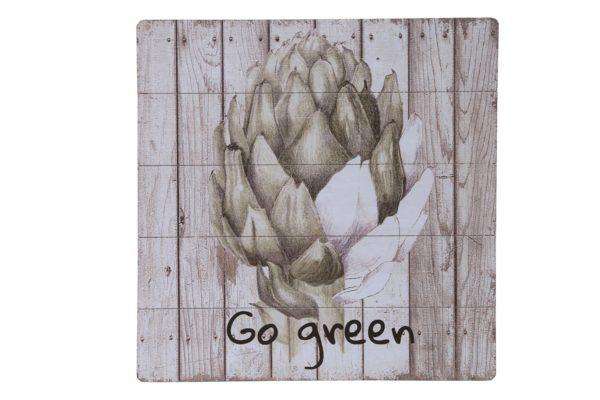 Pan Emirates Go Green Wall Art 50x2.5x50cm Multi Color