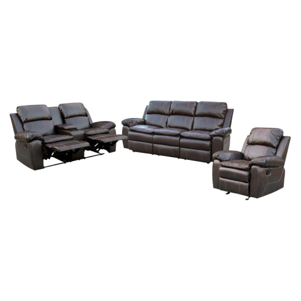 Burlington Recliner Sofa Set (3+2+1) Brown