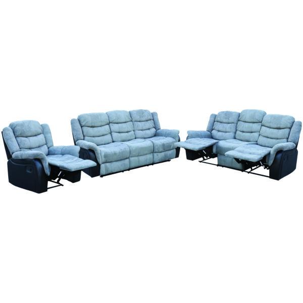 Buy Kent 3 2 1 Recliner Sofa Set Grey Black Price