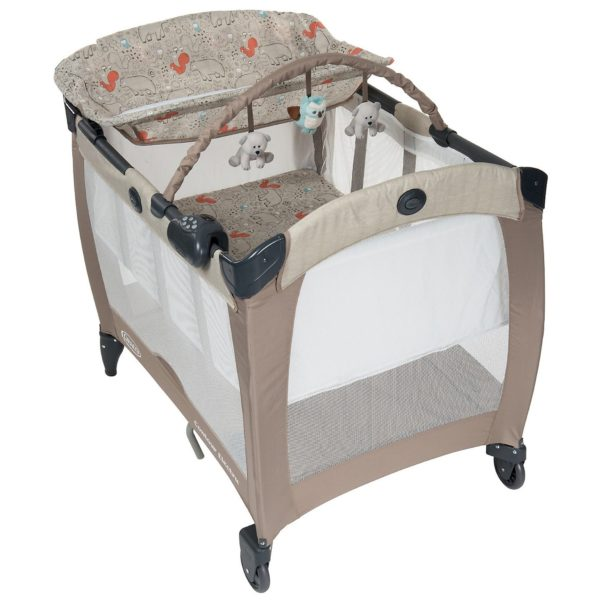 Graco Pack N Play Contour Electra Woodland Walk Travel Cot
