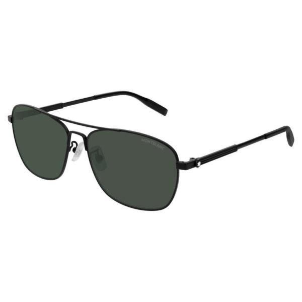 MontBlanc MB0026-007-60 Full Rimmed New Sunglasses Unisex Black