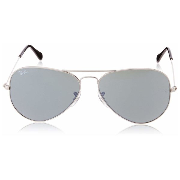 RayBan RB3025-W3277-58 Aviator Silver Unisex Sunglasses