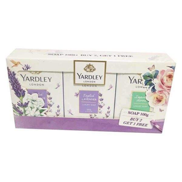 Yardley Perfumed Luxury Soap 100 gm ( Buy 2 Get 1 free)