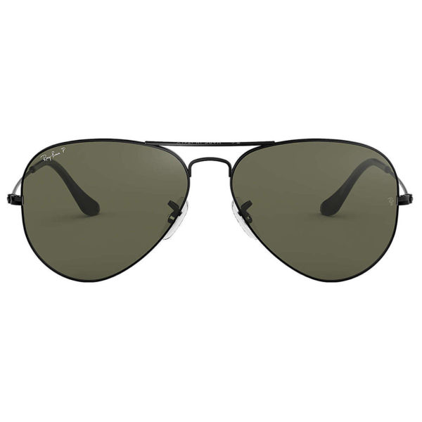 RayBan RB3025-002/58-58 Aviator Black Polarized Unisex Sunglasses