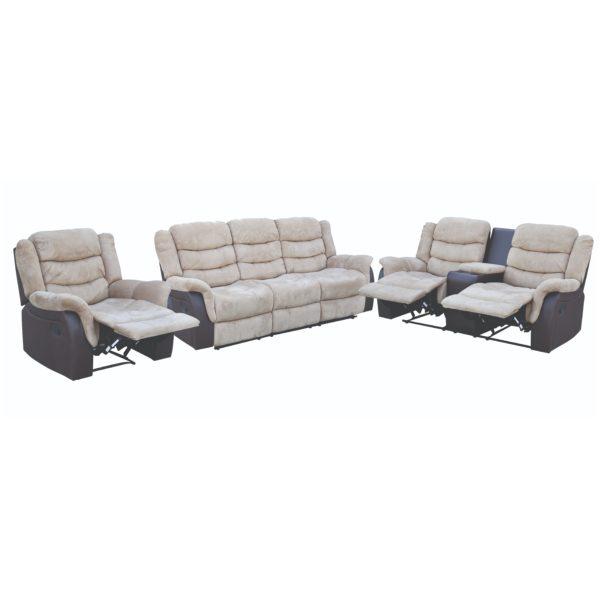 Buy Kent 3 2 1 Recliner Sofa Set Sandstone Price