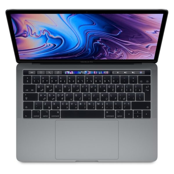 MacBook Pro 13-inch with Touch Bar and Touch ID (2019) - Core i5 1.4GHz 8GB 256GB Shared Space Grey English/Arabic Keyboard