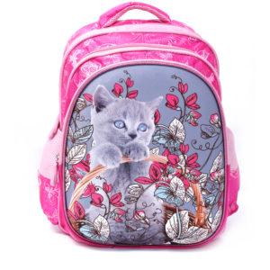 Para John 14inch Graphic Printed School Bag Pink