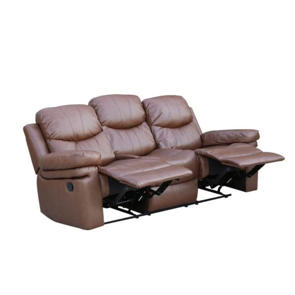 Zoe Recliner Sofa Set 3+2+1 - Brown