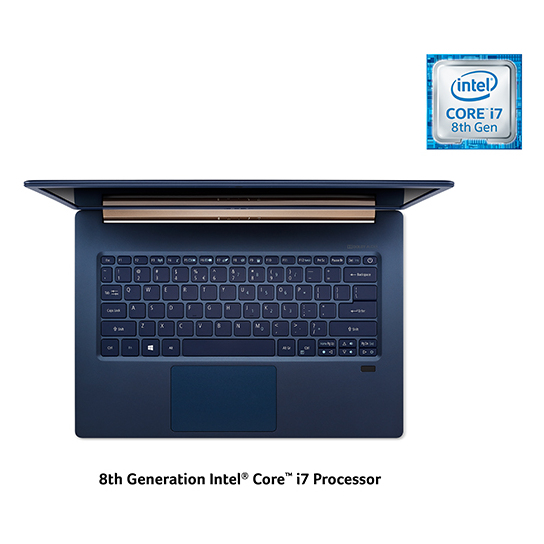 Acer Swift 5 SF514-53T-700U Laptop - Core i7 1.8GHz 16GB 512GB Shared Win10 14inch FHD Blue