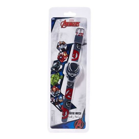 Disney Avengers Digital Watch Colourful Rubber Grey