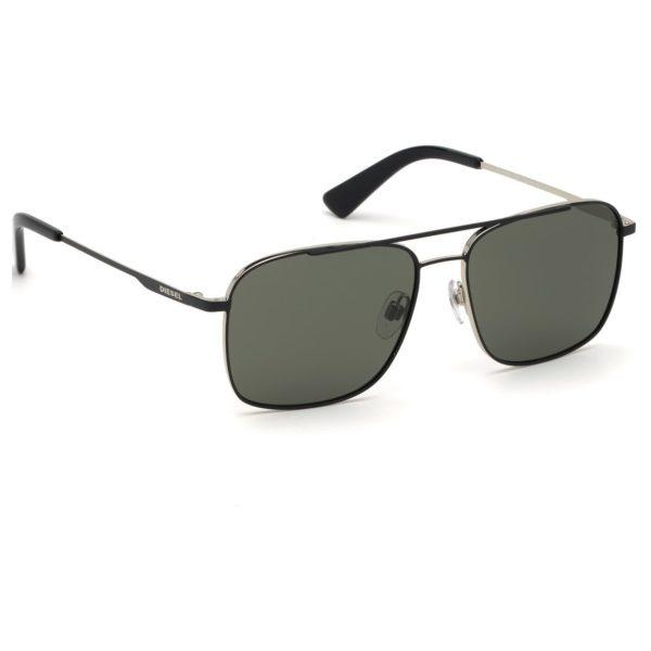 Diesel DL029505N55 Sunglasses Black/ Green Metal For Men