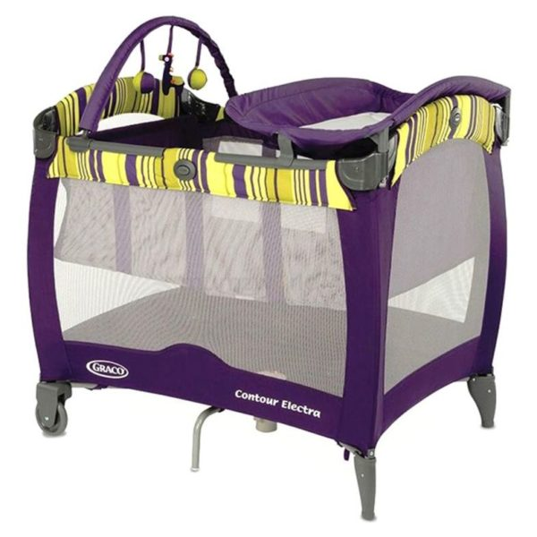 Graco Pack N Play Contour Electra Blackberry Spring Travel Cot