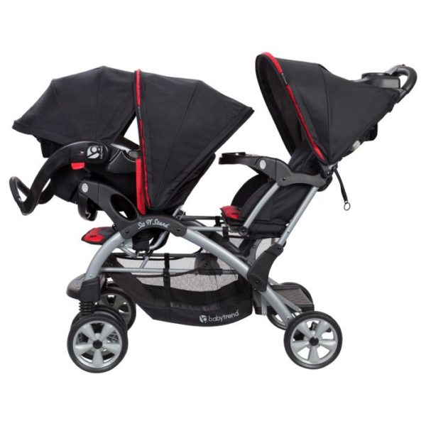 Baby Trend Sit N' Stand® Double Stroller Optic Red