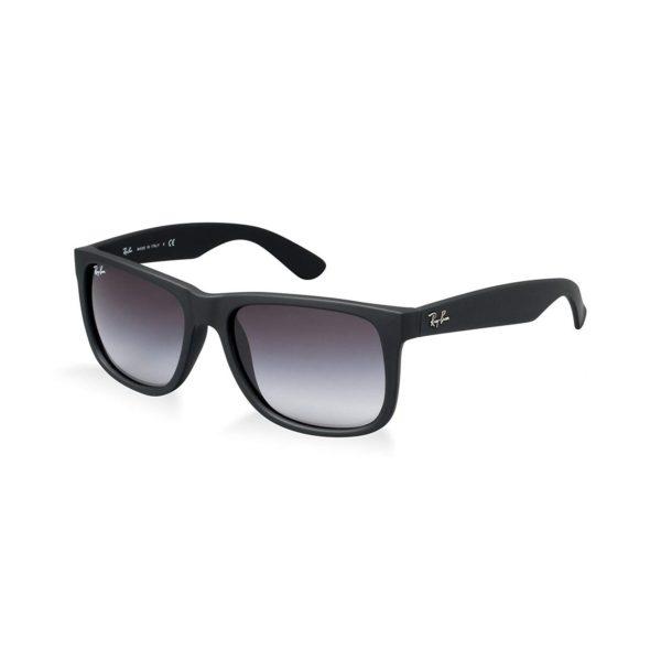 RayBan Justin Classic Square Series Black Unisex Sunglasses