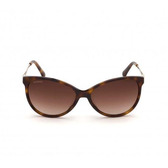 Swarovski SK0190-52F-58 Women's Sunglasses Dark Havana/Gradient Brown