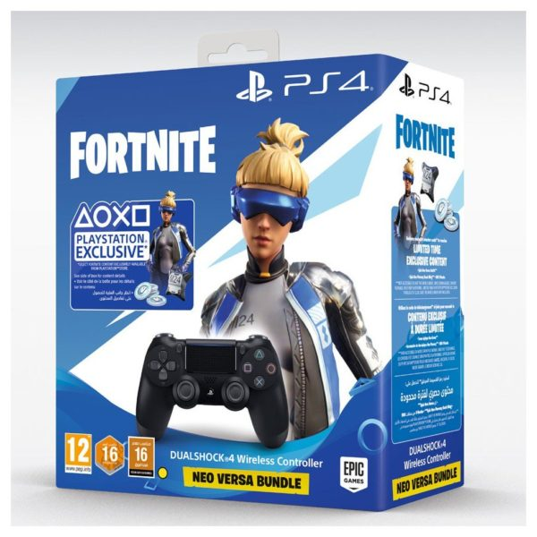 PS4 Dual Shock 4 Wireless Controller Black + Fornite Voucher