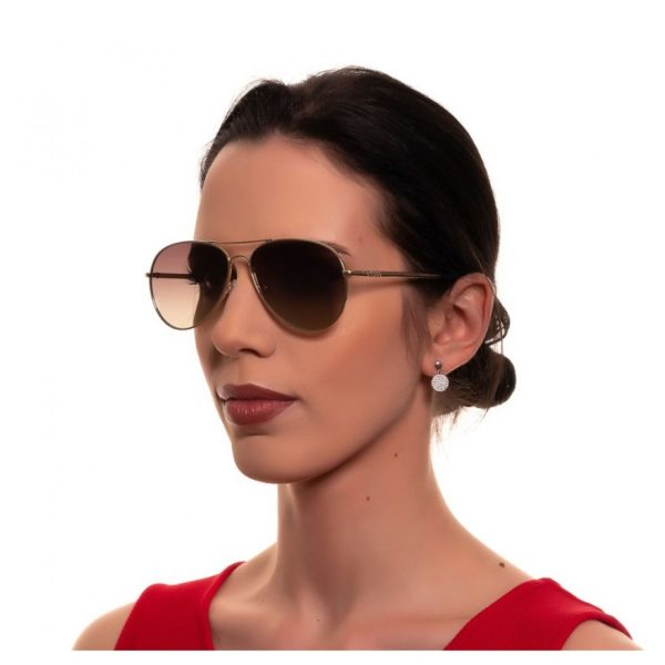 Guess Gold / Brown Mirror Metal Unisex Sunglasses