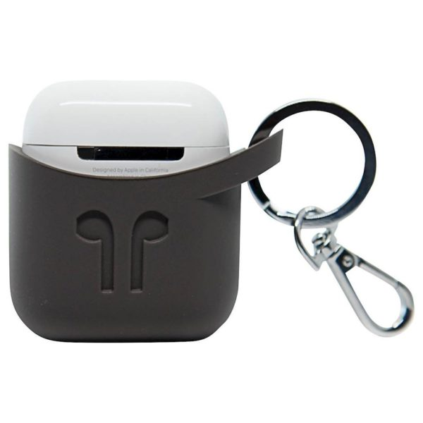 Podpocket Silicone Case For Apple Airpods - Cocoa Grey