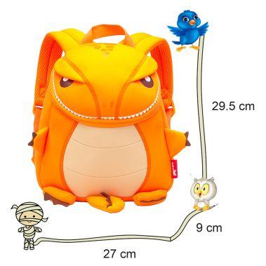 Nohoo Jungle T Rex Orange Backpack