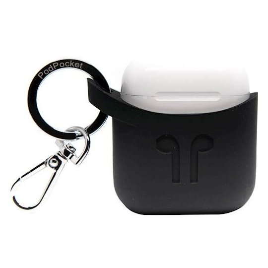 Podpocket Silicone Case For Apple Airpods - Midnight Black