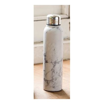 TYPO Small Metal Drink Bottle Marble