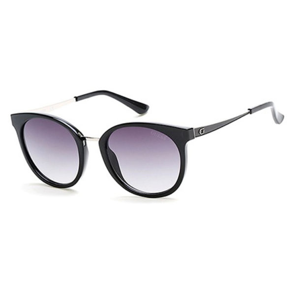 Guess Shiny Black / Gradient Smoke Injected Women's Sunglasses