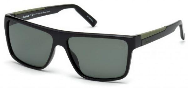 Timberland Men's Sunglasses Shiny Black/Green
